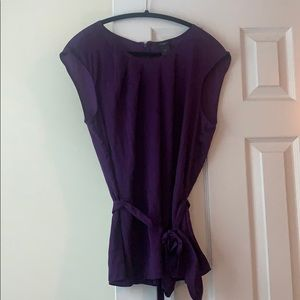 Ann Taylor purple belted blouse, size 12